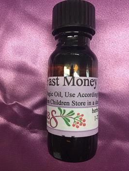 Herbs By Merlin FAST MONEY Magic Oil - 1/2 ounce